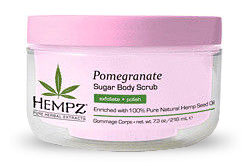 Hempz Pomegranate Sugar Scrub & Body Scrub From Lotion Source